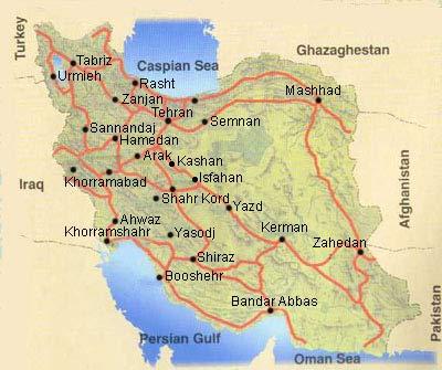 Mappa dell'Iran